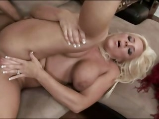 Mature blonde having..