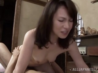 Lustful Japanese mature babe..