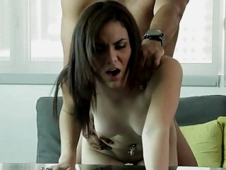 Cute Adrienne gets fucked on..