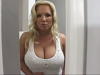 Busty mother helps her..