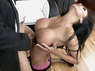 Busty Audrey gets fucked by..