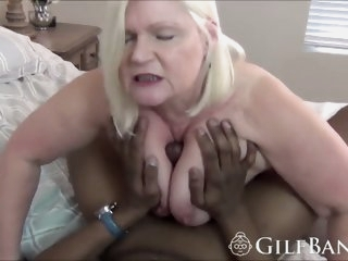 Chubby granny receives big..