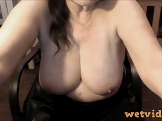 Hot granny with massive tits..