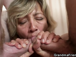 Horny granny is ready to get..