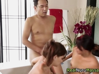 asian masseuse sucking asian