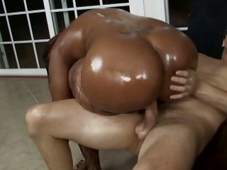 Lucky white stud gets his..