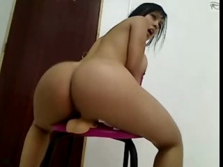Big Ass Busty Latina Riding..