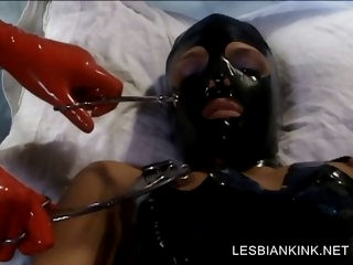 BDSM scene with lesbo..