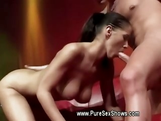 Hot babe wants his cock out..